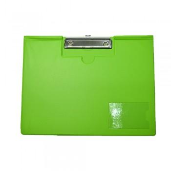 PVC Student File Landscape (2100) - Fancy Green / 12pcs