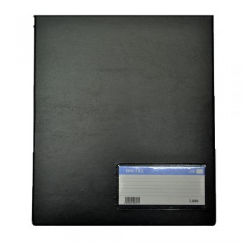 PVC Computer File (800) - Black / 1 box
