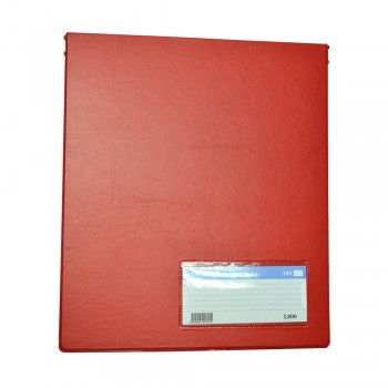 PVC Computer File (800) - Red / 20pcs