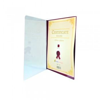 521A Certificate Holder withTransparent Cover - Maroon / 12pcs