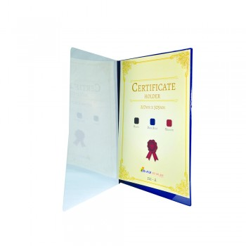 521A Certificate Holder withTransparent Cover - Blue / 12pcs