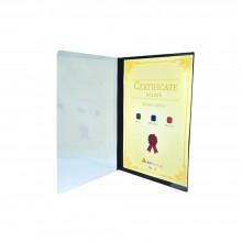 521A Certificate Holder withTransparent Cover - Black / 12pcs