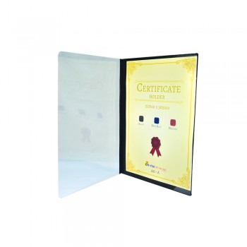 521A Certificate Holder withTransparent Cover - Black / 12pcs