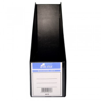 "PVC Magazine Box 4"" (Black) / 25pcs"