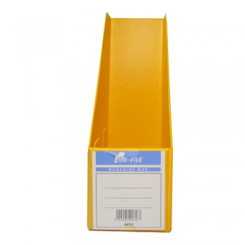 "PVC Magazine Box 4"" (Yellow) / 25pcs"