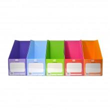 "PVC Magazine Box 6"" (Mix Colour) / 1 box"