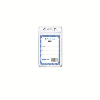 PVC Name Tag with card (984) / 100pcs