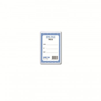 PVC Name Tag with card (985) / 100pcs