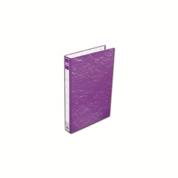 K2 8925 Fancy Hard Cover Ring File (Purple) / 48pcs