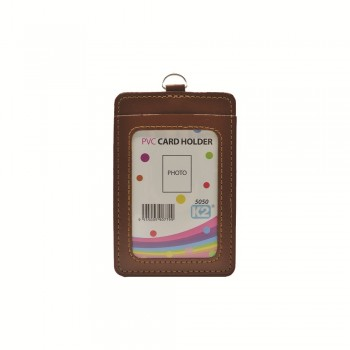 ID 5050 (P) Card Holder with 2 pocket - Brown / 25pcs
