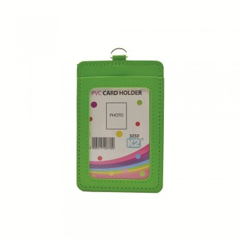 ID 5050 (P) Card Holder with 2 pocket - Green / 25pcs