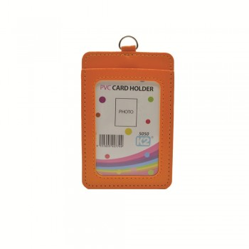 ID 5050 (P) Card Holder with 2 pocket - Orange / 25pcs