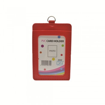 ID 5050 (P) Card Holder with 2 pocket - Red / 25pcs