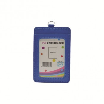 ID 5050 (P) Card Holder with 2 pocket - Blue / 25pcs