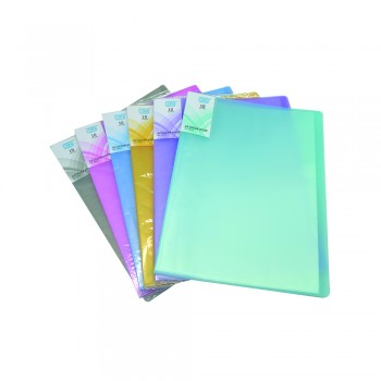 PP Clear Book 10's (Mix Colour)  / 1 box