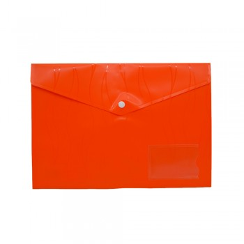 PP Document Holder A4 (Orange) / 1 packet
