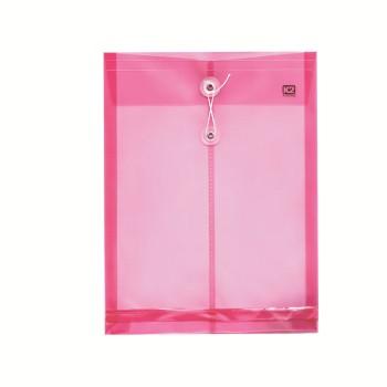 PP Envelope File A4 - (Pink)  / 12pcs
