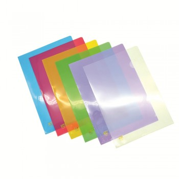 PP A4 L-Shape Folder - Mix Colour / 12pcs