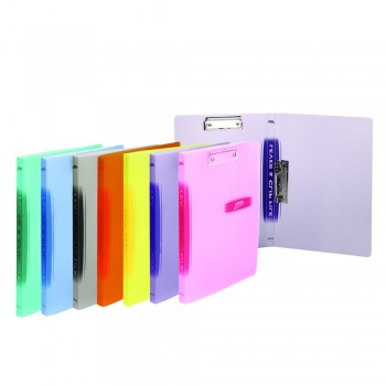 PP Lever and Clip File F4 (Mix Colour) / 12 pcs
