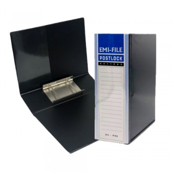 2 Post Lock File (80mm) - Black / 1 box