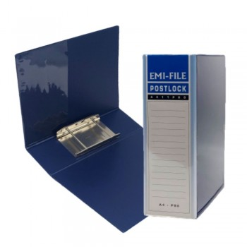 2 Post Lock File (80mm) - Blue / 1 box