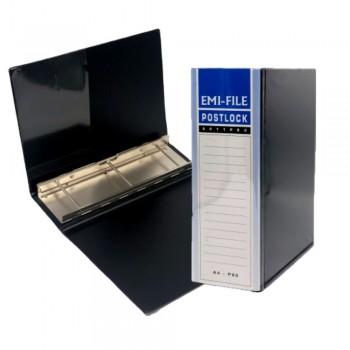 3 Post Lock File (80mm) - Black / 1pcs