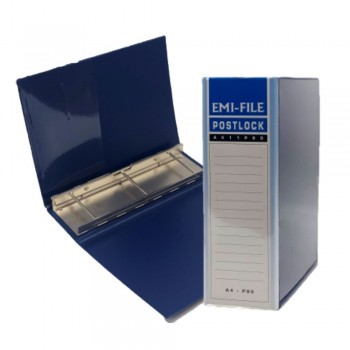 3 Post Lock File (80mm) - Blue / 20pcs