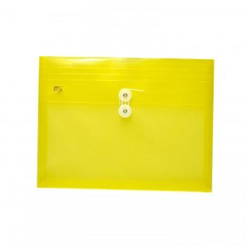 PP Envelope File Landscape - (Yellow) / 12pcs
