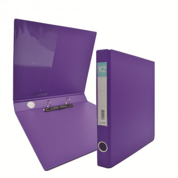 K2 Glue on Ring File (L125) - Fancy Purple / 50 pcs
