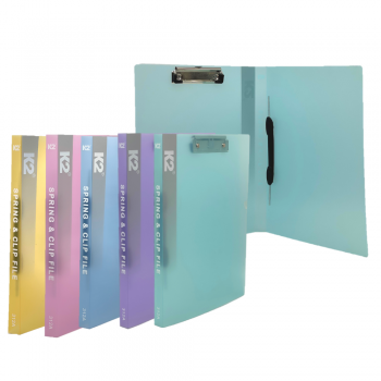 PP Spring & Clip File A4 (Mix Colour) / 12 pcs