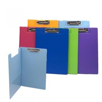 PVC Student File Lever Clip F4 (2100) - Mix Fancy Colour / 12pcs