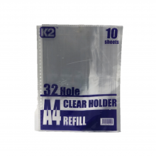 K2 Clear Holder Refill A4 /'10s/Pkt
