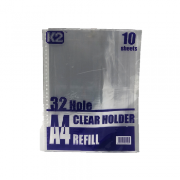 K2 Clear Holder Refill A4/'10s / 100 pkt