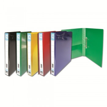 K2 40MM A4 2D Ring File -Mix Colour / 6pcs