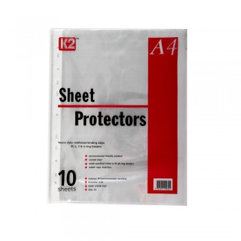 K2 Sheet Protector Refill Clear A4/10's 0.05mm / 10pcs