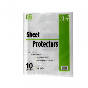 K2 Sheet Protector Refill Clear A4/10's 0.07mm / 10 pcs