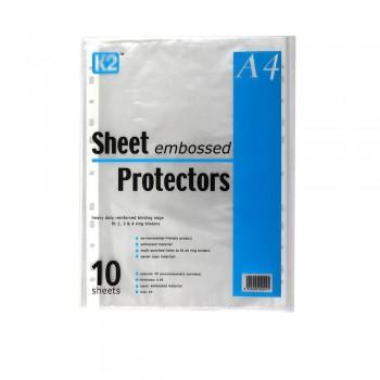 K2 Sheet Protector Refill Emboss A4/10's 0.05mm / 10pcs