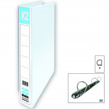 K2 40MM A4 3D Ring File / 6 pcs