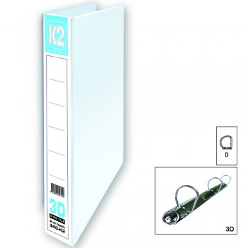K2 40MM A4 3D Ring File / 40 pcs