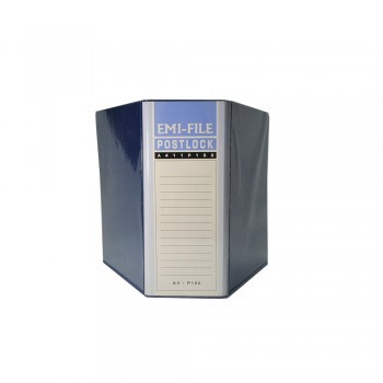 2 Post Lock File (100mm) - Blue / 1 box
