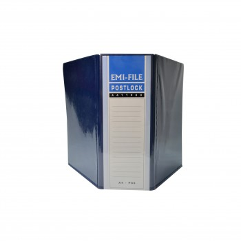 2 Post Lock File (80mm) - Blue / 1 box