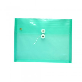 PP Envelope File Landscape - (Green) / 12pcs