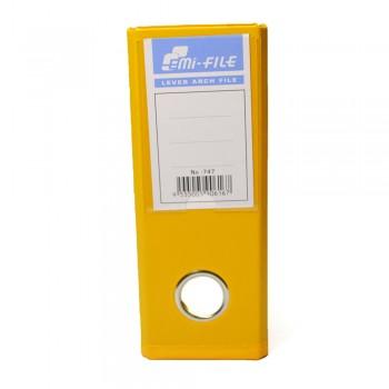 """EMI PVC 3"""" Voucher File (Yellow) / 1 box"""