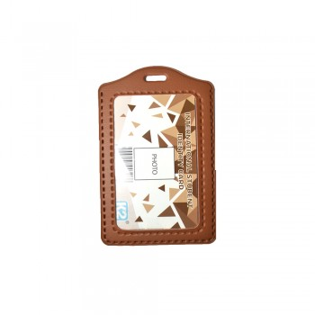 ID 3030 (P) PVC Card Holder - Brown / 25pcs
