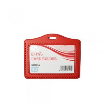 ID 3030 (L) PVC Card Holder (Red) / 25pcs