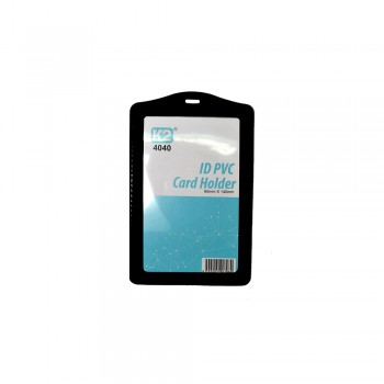ID 4040 PVC Card Holder (Black) / 1 box
