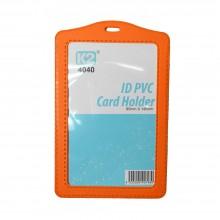 ID 4040 PVC Card Holder (Orange) / 1 box