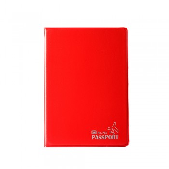 PVC Passport Cover (Red) / 12 pcs