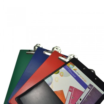 SUPER 1496 Jumbo Clipboard + Back Pocket (Mix Colour) / 24 pcs