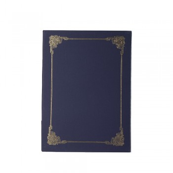 Hard Cover Certificate Holder - Blue / 20pcs
